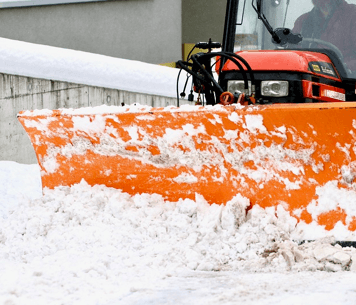 Industrial Snow Removal Company Plow Truck